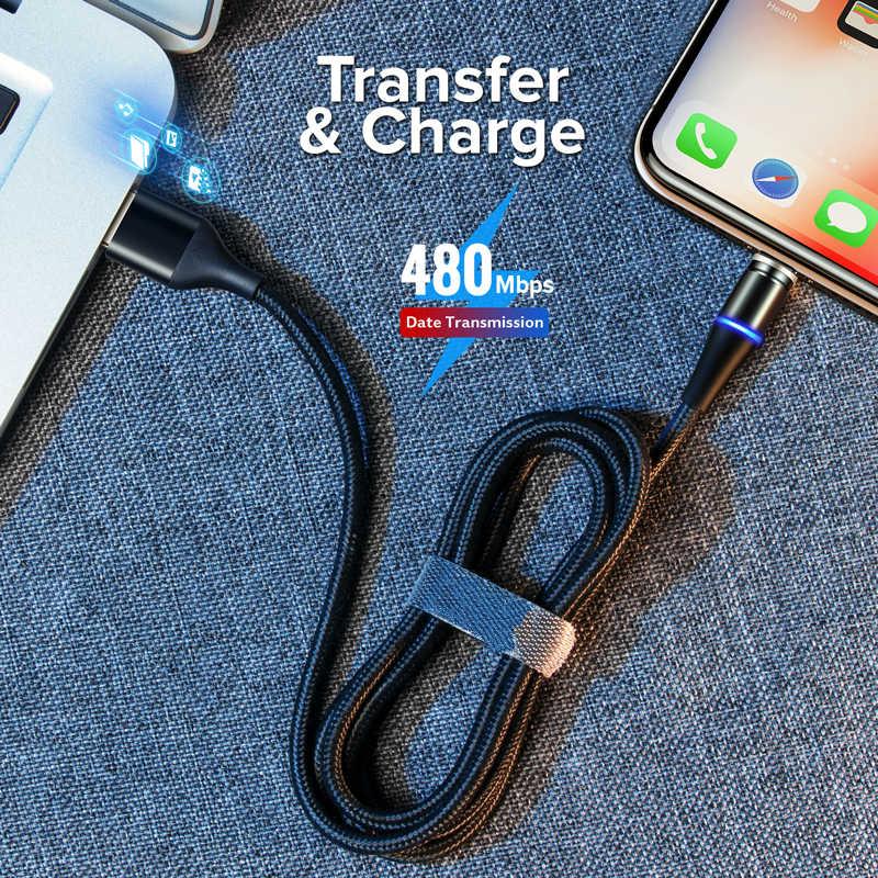 Nohon 3A Từ Tính Cho Iphone XS Max 8 7 6 Micro USB Type C Sạc Nhanh, Cáp Dữ Liệu Cho samsung Xiaomi Huawei Sạc Điện Thoại