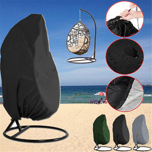 Garden Hanging Swing Chair Cover Dustproof Waterproof UV Protection Universal Cover Polyester Outdoor Furniture