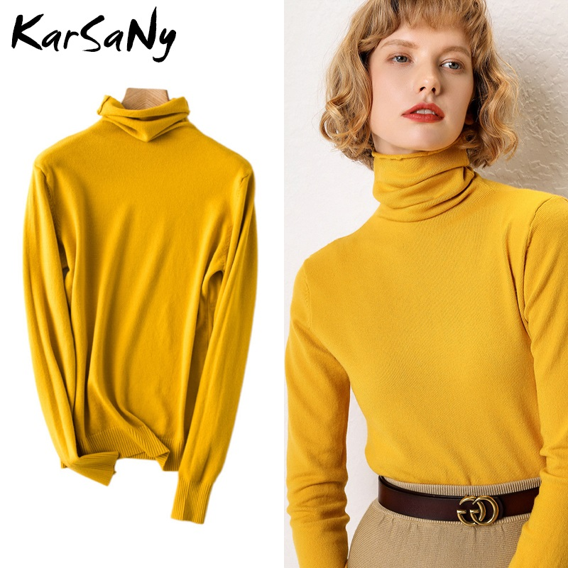 Turtleneck Sweater Women Cashmere Wool Knitted Jumper Soft Sweaters Ladies Cashmere Sweater Women Winter Pullover Solid Knit