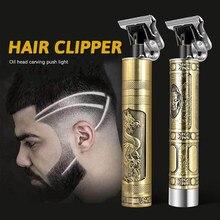 Máquina de cortar cabelo profissional barbeiro trimmer barbeador elétrico para homens cortador cabelo máquina corte barba aparador usb sem fio