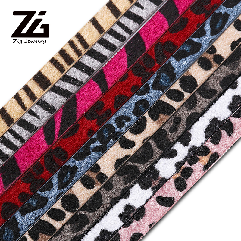 9 Color Leopard Print 10mm Christmas Ribbon Diy Sewing Hairstyle Gift Decoration Bracelet Handicraft Accessories
