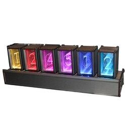 EleksMaker EleksTube bambú 6-Bit Kit tiempo electrónico LED luminoso resplandor Nixie tubo reloj tiempo moscas lapso