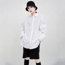 2020 New Spring Summer Loose White Women Blouse Original Design Fashion Ladies Shirt Big Size Sleeve Blouse Sharp Outline Camisa