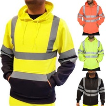 HEFLASHOR 2019 Men Road Work High Visibility Pullover Casual