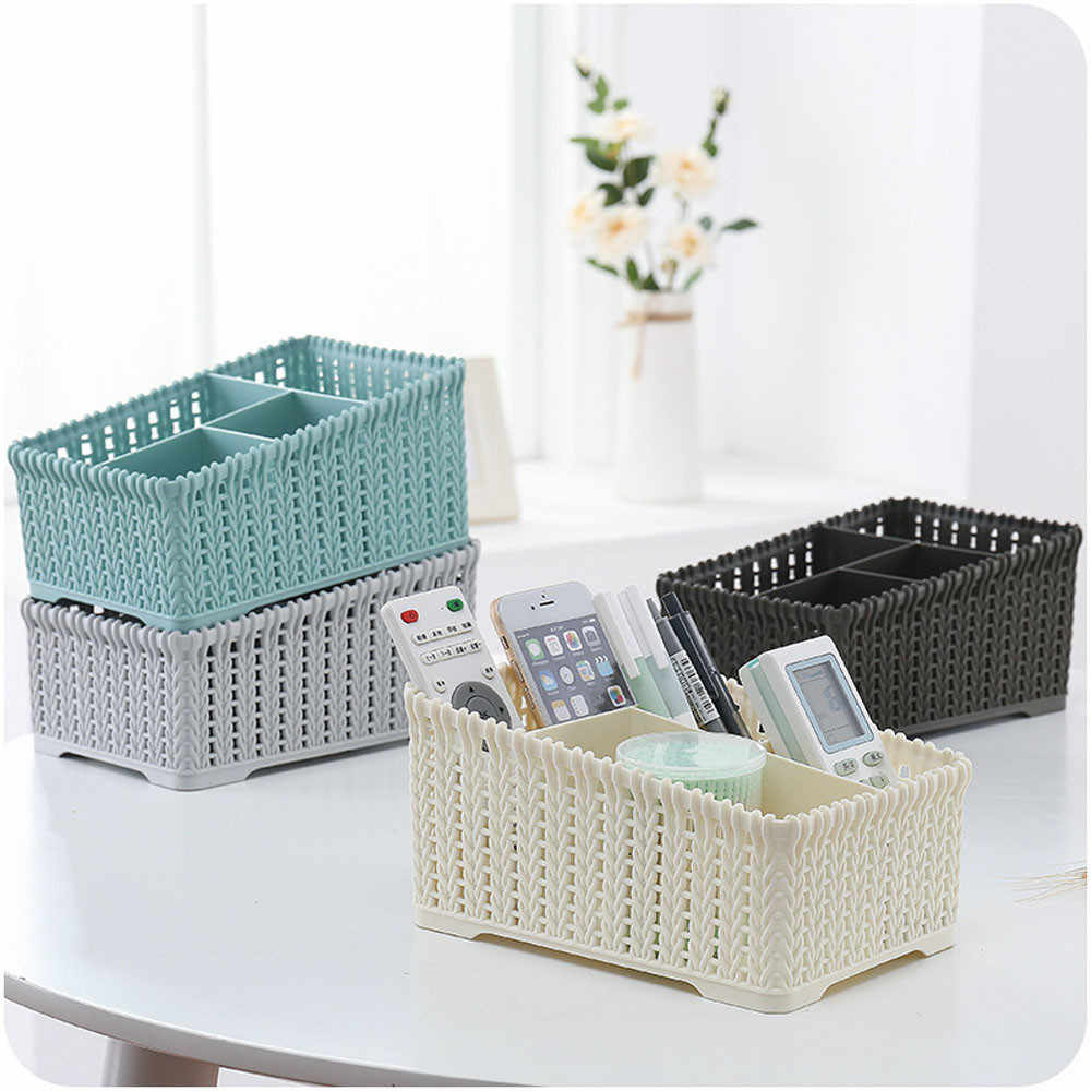 Office Plastic Storage Box Desktop Finishing Box Cosmetics Debris Case Underwear Organizer Closet Storage Box Organizer Wardrobe
