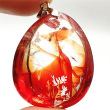 Newly Natural Red Limonite Quartz Phantom Crystal Rare 38x30x17mm Pendant For Women Man Rare Fashion AAAAA newly natural red limonite quartz phantom crystal rare 38x30x17mm pendant for women man rare fashion aaaaa