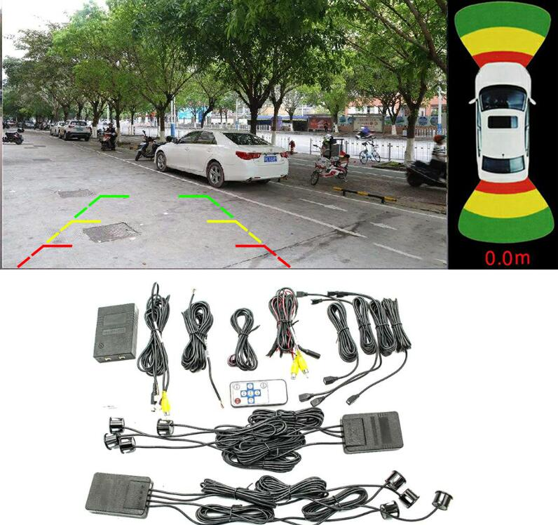 Remote control OE for BMW image <font><b>8</b></font> sensor with waterproof <font><b>plug</b></font> dual view channel module GPS monitor visual parking video system image