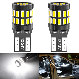 2pcs High Quality T10 W5W Super Bright 3014 LED Car Interior Reading Dome Light Marker Lamp 168 194 LED Auto Wedge Parking Bulbs(China)