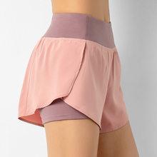 SVOKOR-pantalones cortos de entrenamiento con bolsillo para mujer, Shorts de motorista para gimnasio cintura alta, ropa de Fitness para mujer, pantalones cortos de realce para correr de secado rápido