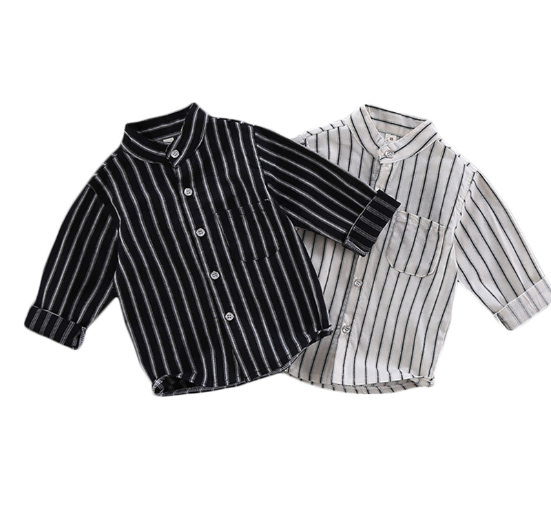 T-Shirts Long-Sleeve Tops Spring Infant White Autumn Baby-Boys Striped Kids Black Age