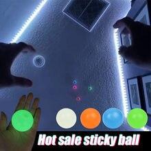 Bola de parede pegajosa globbles globbles brinquedo fidget alívio do estresse bolas de teto squash alvo pegajoso bola descompressão lance crianças presente