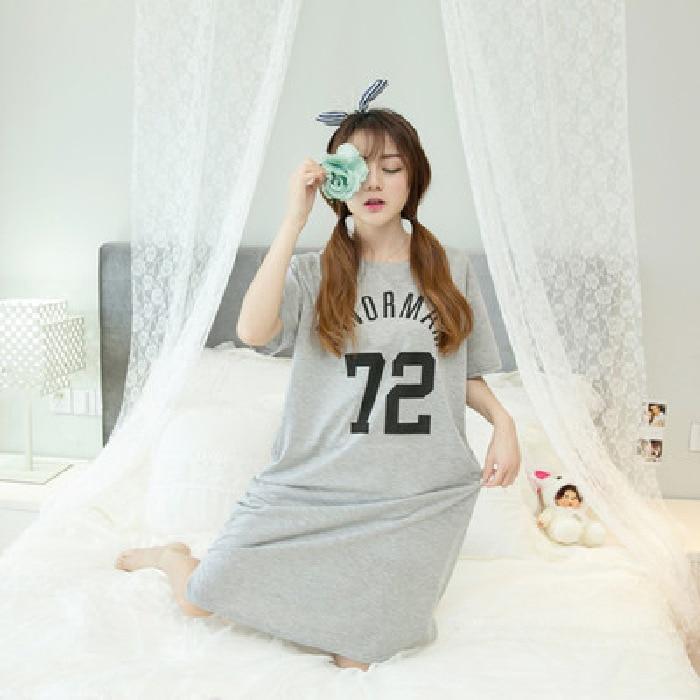 Spring And Summer Short Sleeve Nightdress Skirt Korean Version Of The Leisure Clothing Nightgown  Women Sleepwear