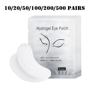 Image 1 - 200/500 Pairs Eyelashes Paper Patches Under Eye Pads Eyelash Extension Hydrating Eye Tips Sticker Wraps Lint Free Make Up Tools