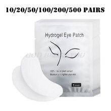 200/500 คู่ขนตา Paper แพทช์ Eye Pads Eyelash EXTENSION Hydrating Eye เคล็ดลับ Sticker Wraps Lint ฟรีเครื่องมือ