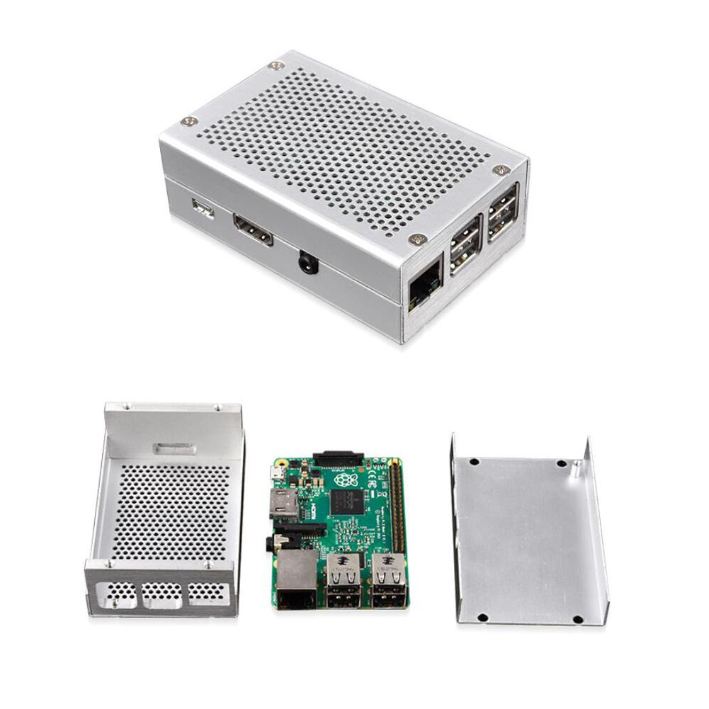 Raspberry Pi 3 Aluminum Case Silver Case Metal Enclosure For RPI 3 Model B Compatible With Raspberry Pi 3 Model B+
