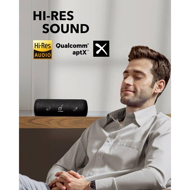Anker Soundcore Motion + Bluetooth динамик с Hi-Res 30 Вт аудио, расширенные басы и высокие частоты, беспроводной HiFi портативный динамик