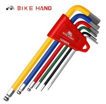 Bicycle Repair Tools BikeHand Tools MTB Road Bike Multi-function Hex Key Ball End Set 2/2.5/3/4/5/6mm Allen Wrench Bike Tools bikehand bicycle repair tools kit bike torque wrench allen key tool socket set road mtb bike tools 1 4 torque fix set 2 24 nm