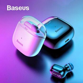 Baseus A03 Business Bluetooth Earphone Mini Portable Single TWS Wireless Earphone With Mic For xiaomi iPhone Huawei Car Driving