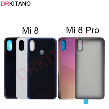 Back Glass For Xiaomi Mi 8 Back Battery Cover Mi8 Pro Rear Glass Door Housing Case Panel For Xiaomi Mi 8 Pro Battery Cover for samsung galaxy note 8 n950 n950f n9500 back cover glass battery case rear door housing case back glass cover