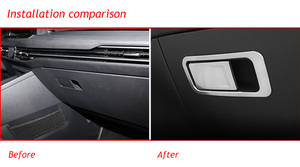 Image 2 - Car co pilot Storage Glove Box Handle Frame Stickers Car Cover Styling 2Pcs/Set For VW Golf 8 MK8 2020 2021 Accessories