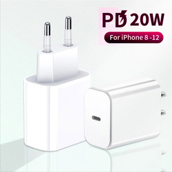 20W Fast Charger for iPhone 12 Pro Max 11 12 Mini XR XS X 8 Plus PD Charging USB C Charger Adapter for iPad Pro Air 4 2020 20 W