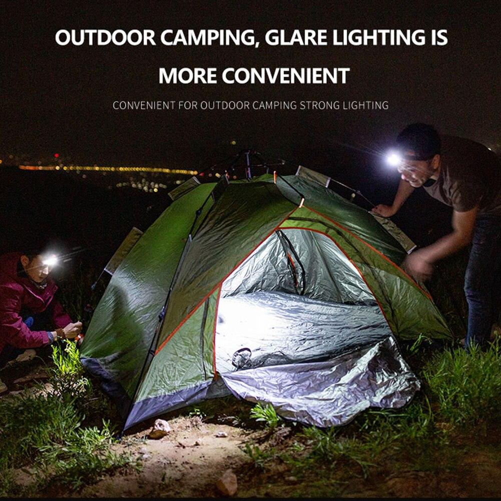 Mini lampe frontale étanche COB, 3 Modes d'éclairage, idéal pour le Camping, la pêche, la nuit 4
