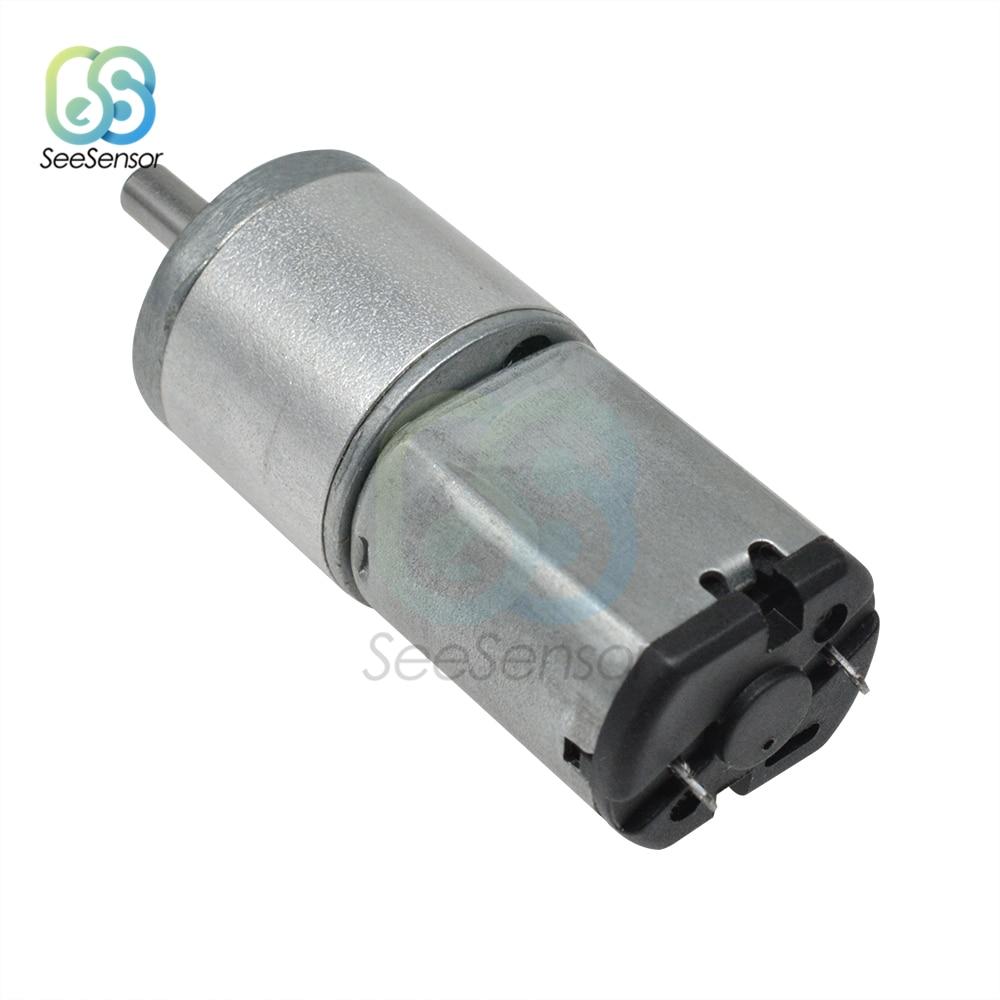 DC 6V 12V 100RPM Mini Micro Metall Getriebe Motor DC Motoren Geschwindigkeit Reduzierung Motor für RC Spielzeug teile 16GA-030