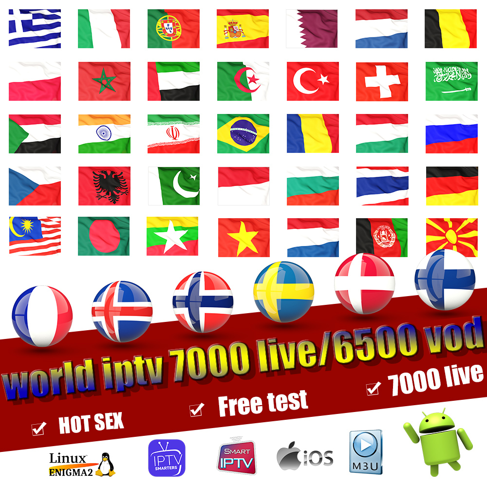World Iptv Subscription Europe Full Iptv Spain Portugal Include VOD Adult Channels Work For Smart Tv Iptv M3U Android Device