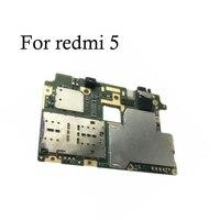 100% テスト全作品オリジナルのロック解除マザーボード xiaomi redmi 5 フル作業 xiaomi redmi 5 メインボードのロジックボード