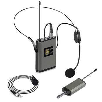 Wireless Microphone System 3.5/6.35 mm Wireless Mic Lavalier Microphone Mini Lapel Mic Portable Transmitter for Speech Recording oxlasers high quality 2 4g usb wireless dynamic microphone for conference teacher and speech mic free shipping