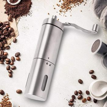 Stainless Steel Kitchen Manual Hand Crank Adjustable Bean Mill Coffee Grinder gristmill home medicine flour powder crusher image