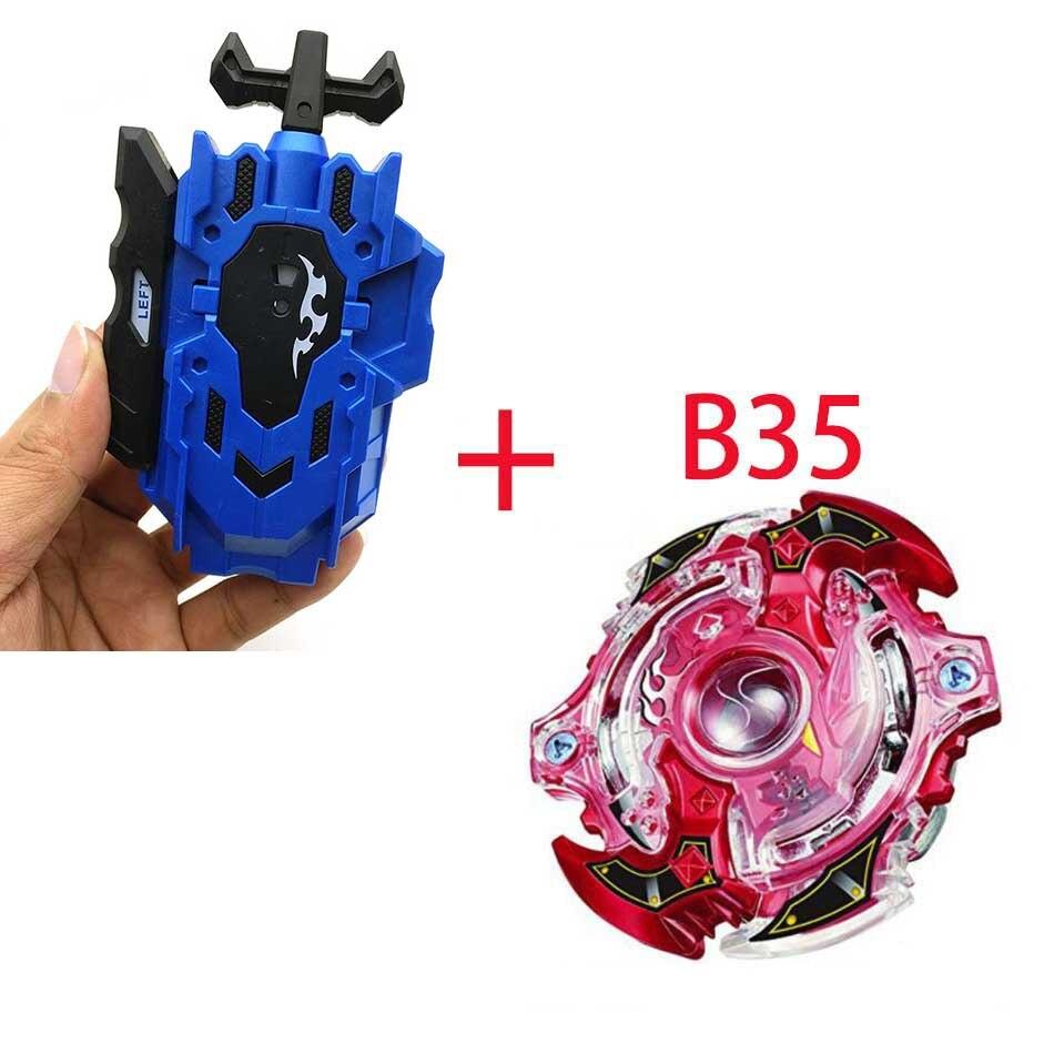 Волчок Beyblade BURST B-130 B-117 с пусковым устройством Bayblade Bay blade металл пластик Fusion 4D Подарочные игрушки для детей - Цвет: B35