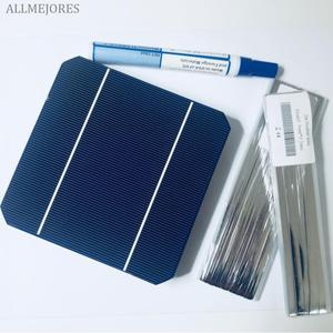 Image 4 - DIY solar panel kits 10pcs monocrystalline solar cells 5x5 high effencicy with 5m tabbing wire 1m buss wire and 1pcs Flux pen