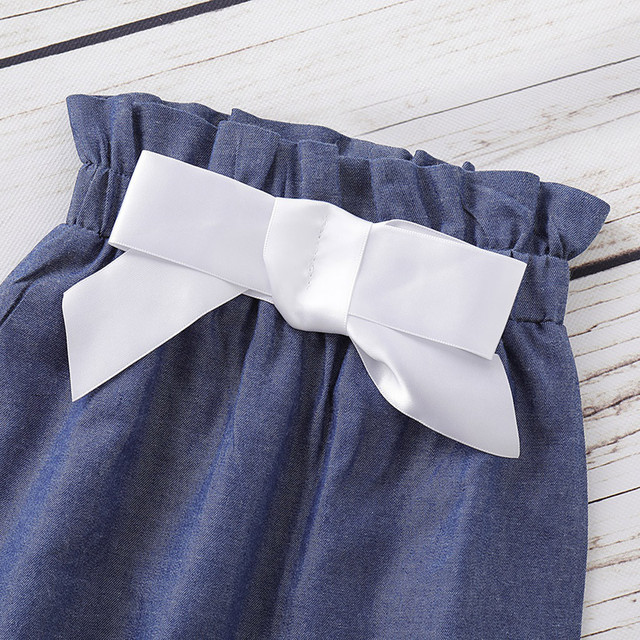 Newest Clothes Set For Girls 2019 Infant Baby Flare Sleeve Ruffles Solid Print Tops+Pants+Headband Outfits Autumn Kids Outfits 5