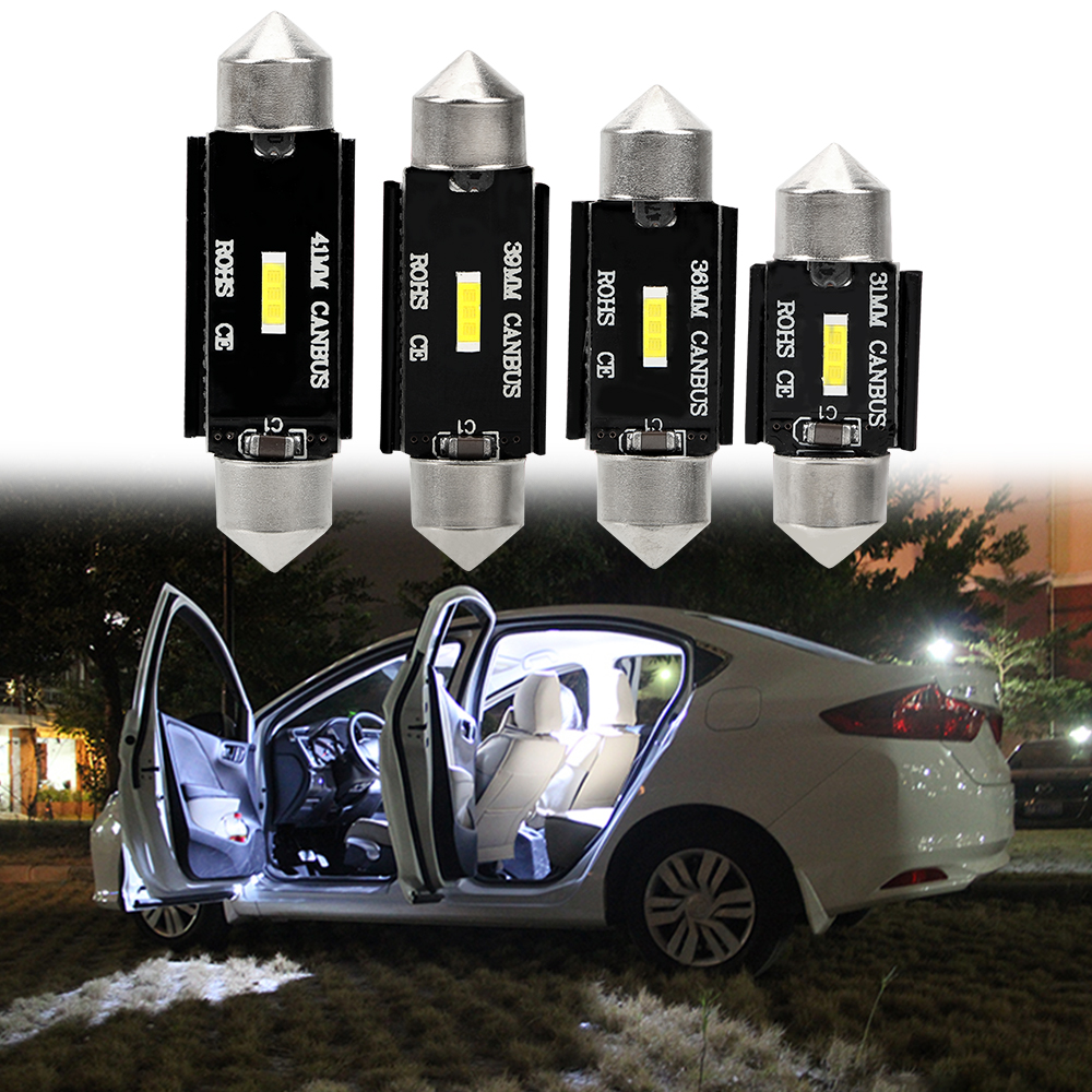 LEEPEE CSP Chips Car Interior Dome Lamp License Plate Light DC 12V C10W Led Bulb Festoon C5W LED CANBUS 31mm 36mm 39mm 41mm