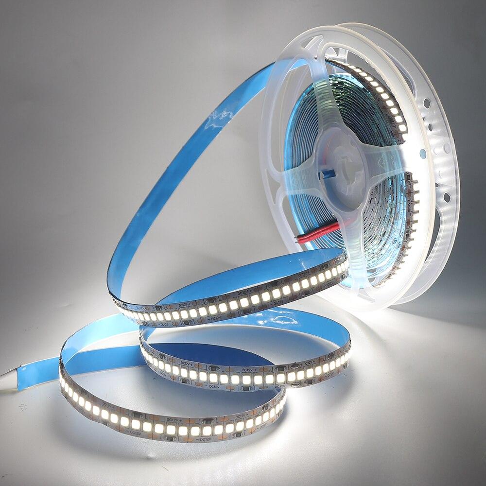 H880db17d4c2540bc9999a068ec9048d9R LED Strip 2835 SMD 240LEDs/m 5M 300/600/1200 Leds DC12V High Bright Flexible LED Rope Ribbon Tape Light Warm White / Cold White