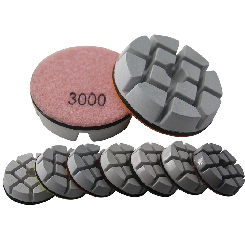 75MM Diamond Polishing Pad Dry Wet Use 3 Inch For Concrete Floor Renovate Grinding Pad Resin Polishing Granite Marble Surface