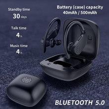 2020 Led Дисплей Bluetooth наушники 5,0 Беспроводной наушники TWS стерео наушники гарнитура Спорт IPX6 из водонепроницаемого материала