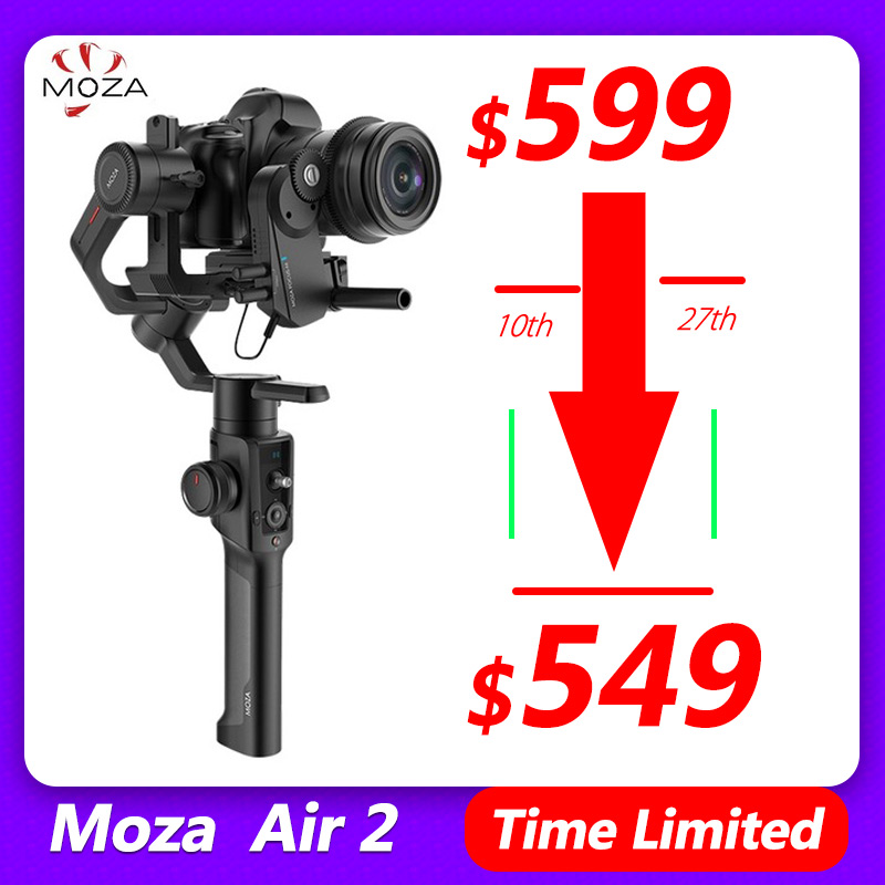 Gudsen Moza Air 2 3 Axis Gimbal Stabilizer for Blackmagic pocket 4k BMPCC Sony A7S A7R3