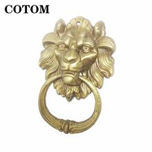 Cotom 1 шт винтажный латунный литой дверной молоток с головой
