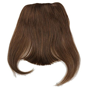 Image 4 - #4 Brazilian Human Hair Clip in Hair Bang Full Fringe Short Straight Hair Extension for women 6 8inch