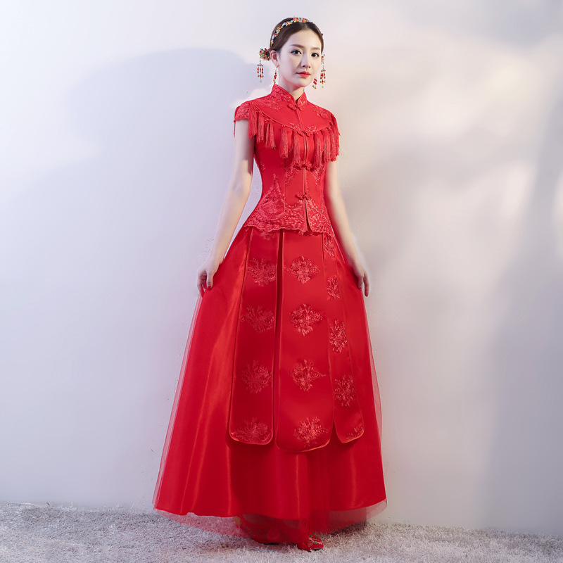 Vestido De Festa The Annual Meeting Of Improved Cheongsam Spring Female Dignified Atmosphere Sexy 2020 New Qipao Dress Is Long