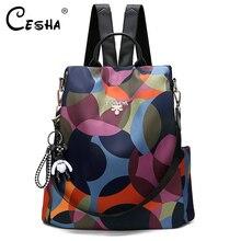 Travel Backpack School-Bag Fabric Oxford Anti-Theft Female Girls Fashion Women Pretty-Style