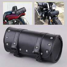 Universal Motorcycle Saddlebag Tool Bag Mounting Strap Round Fork for Harley Waterproof Bags Side Pack