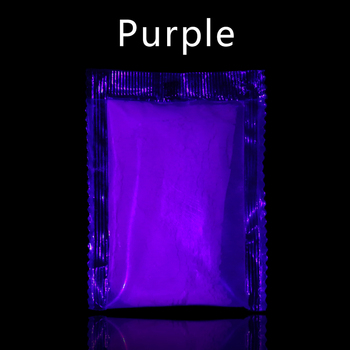Glow In The Dark Phosphor Pigment  Fluorescent Powder For Arts Crafts Party Nail Decoration 10g Purp