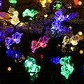На солнечной энергии Розовый Единорог Лошадь форма гирлянды огни герлянда декоративные светодиодные Рождественские огни для вечеринки пр...