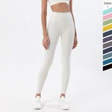 Calças femininas leggings apertadas mulher sexy nude calças esportivas nádegas de fitness hip-lifting estilo pêssego calças de yoga