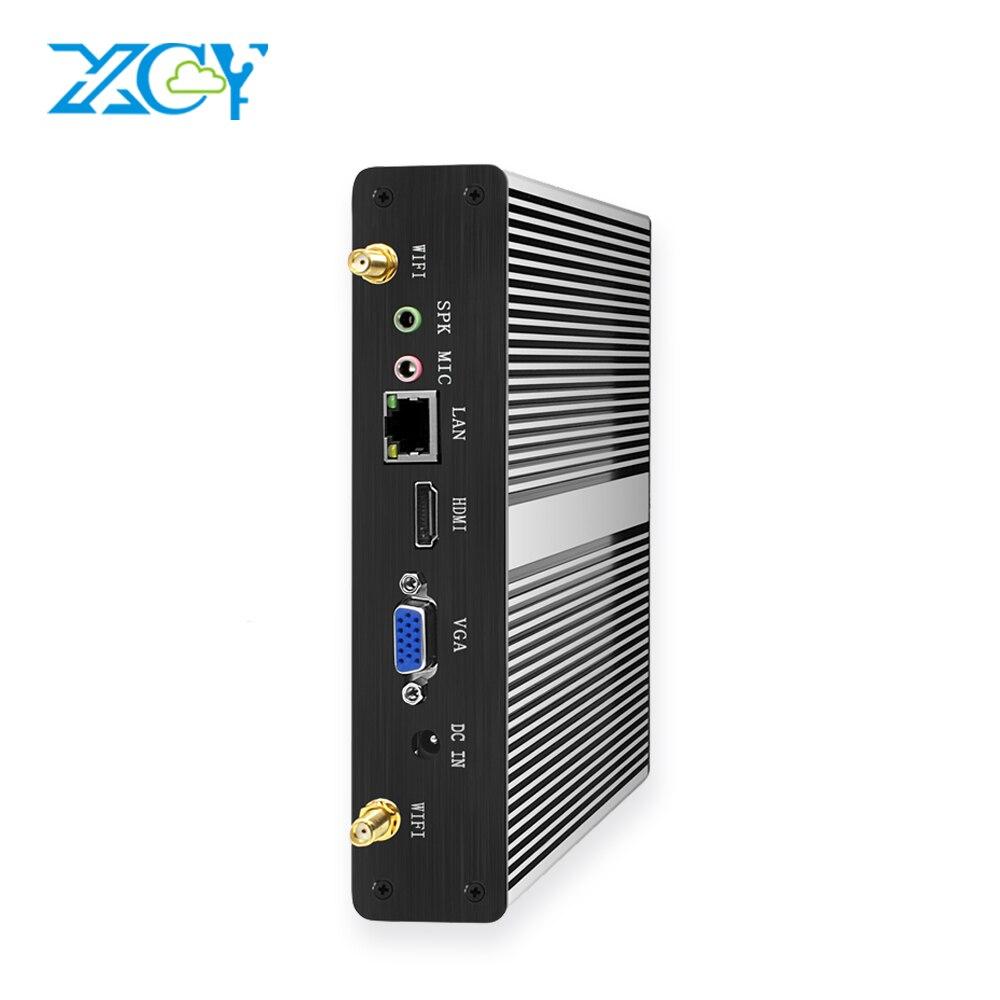 XCY Mini PC Intel Core I5 4200Y I3 7100U Office Mini Computer Celeron 3955U 2955U DDR3L WiFi Minipc HDMI VGA 6*USB Desktop PC