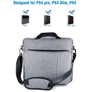 Image 1 - NEW Handbag for PS4/PS4 PRO slim Original size Protect Shoulder Carry Canvas Case for PlayStation 4 Consol Multifunction Bag