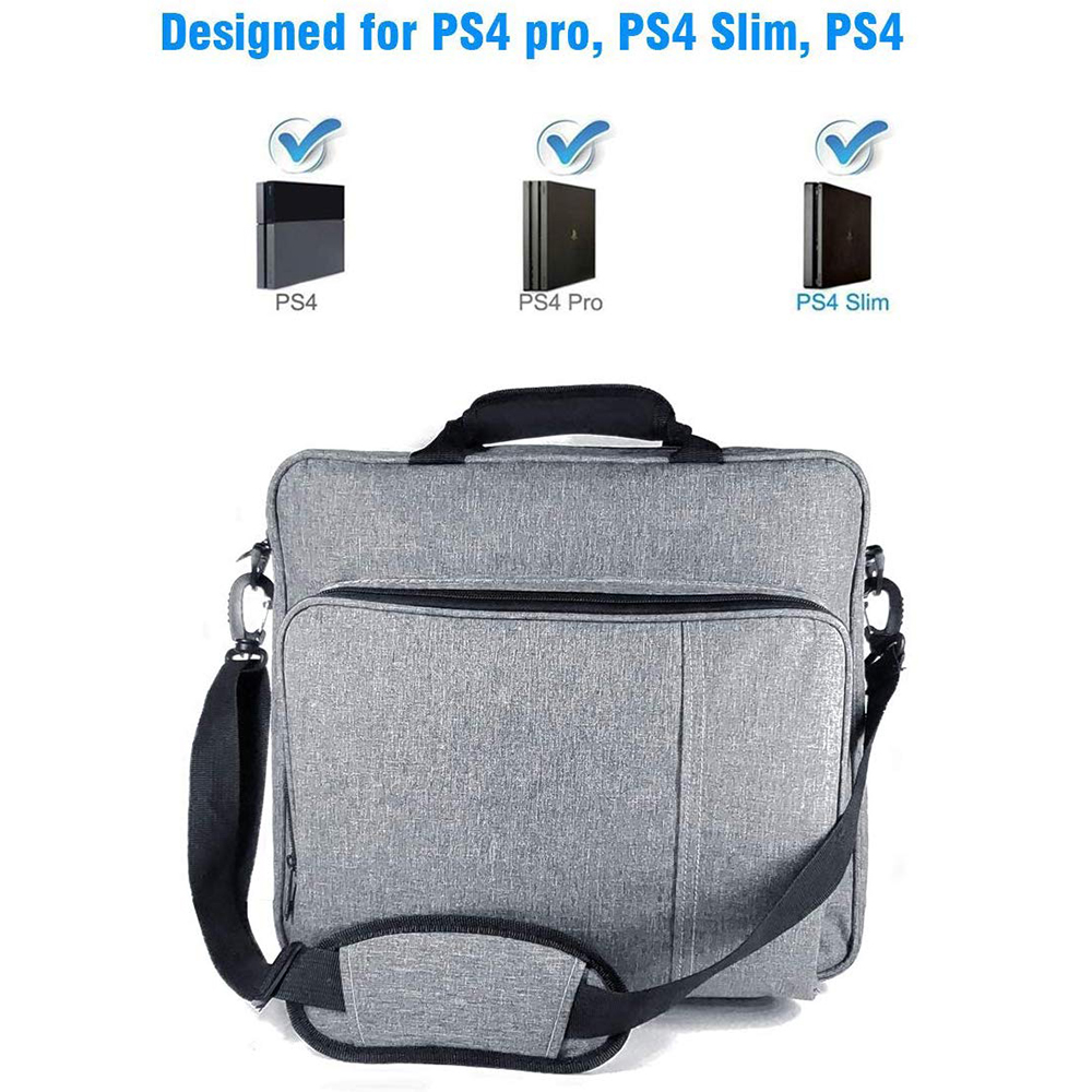 NEW Handbag for <font><b>PS4</b></font>/<font><b>PS4</b></font> PRO slim Original size Protect Shoulder Carry Canvas <font><b>Case</b></font> for PlayStation 4 <font><b>Consol</b></font> Multifunction Bag image